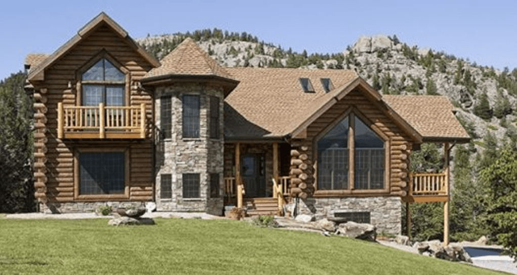 Unique Log Home In Montana
