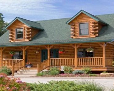 Classic Log Home Design With Floor Plan