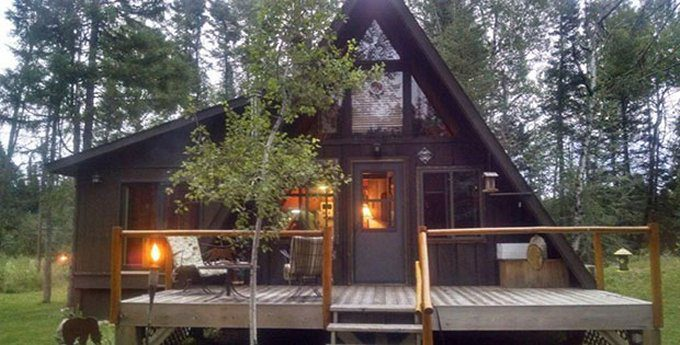 Cozy A Frame Cabin On 11 Acres For Sale