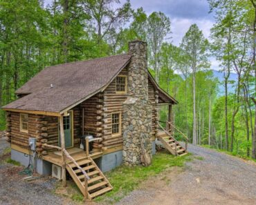 Rustic Cabin With Porch, Take A Peek Inside!