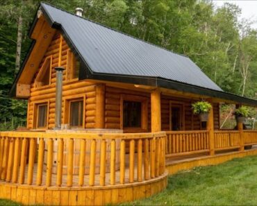 Luxurious Log Cabin With Hot Tub