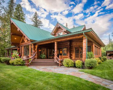 Fall In Love With The Beauty Of This Handcrafted Log Home